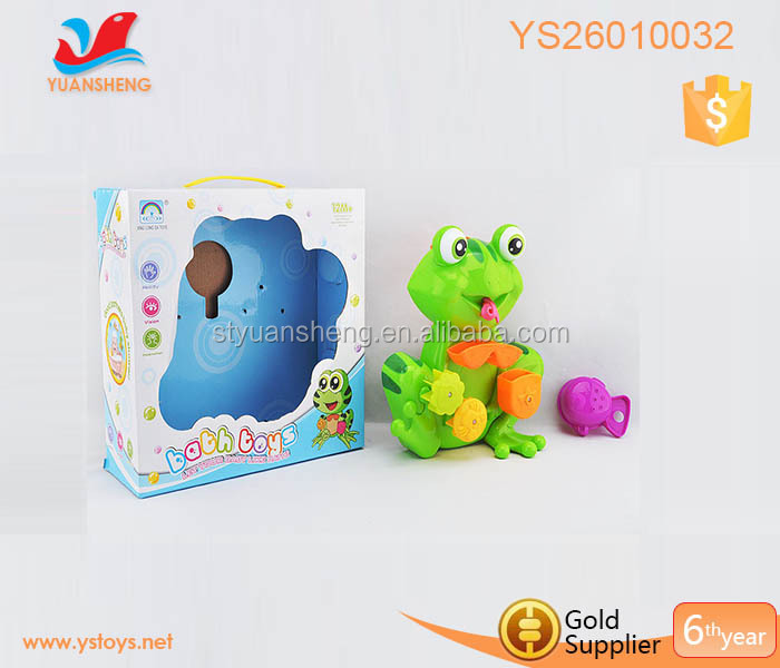 kids bathing plastickids frog bath toy set for kids play for fun ABS bath floating toys
