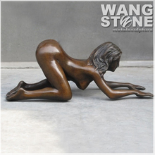 Life size Sexy Nude Erotic Woman Bronze Sculpture