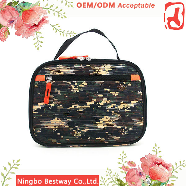 26x9.5x19CM Camouflage color lunch bag, best thermos lunch bag manufacturer
