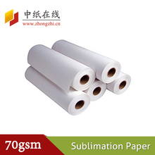 fast dry and and anti-curl 70g 90g 100g sublimation paper for textile