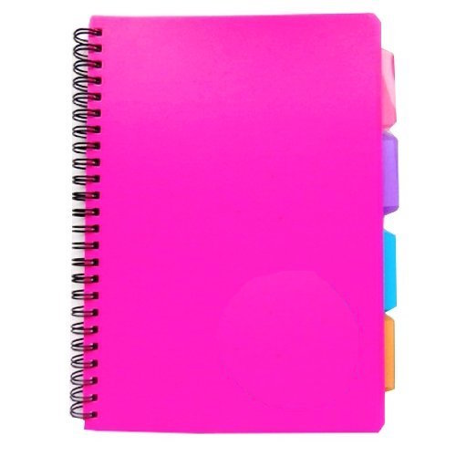 A5 Spiral Bound PVC Cover Notebook with dividers