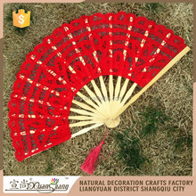 Vintage wedding gift red hand lace fan wholesale