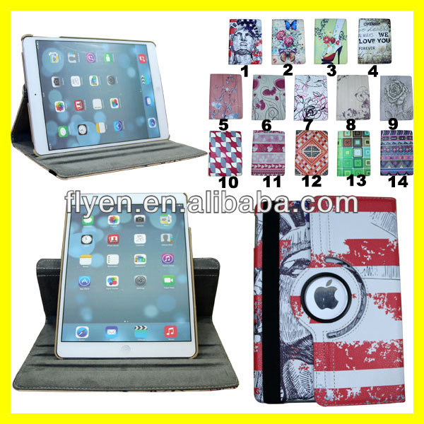 For Apple iPad Air Smart Cover Case Magnetic Polyurethane PU Leather Cover for iPad