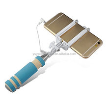 New Selfie Stick Extendable Handheld Fold Self-portrait Stick Holder Monopod For Cell Phone Mini Cable Selfie Stick