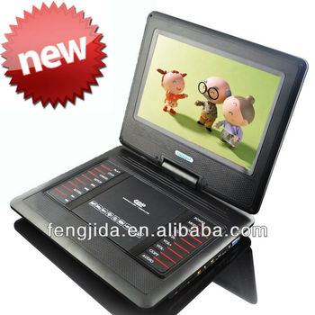 11 inch model cheap portable dvd player with 3D and tv tuner