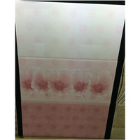 300X600 Pakistan style modern living room designs pink color 3D inkjet glazed ceramic wall tiles