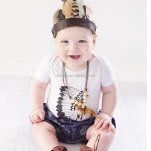 K2088A 2017 New Trend Cotton Baby Rompers Summer Kids Clothing Rompers For Baby Boys