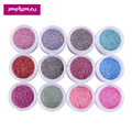 New product 12 colorized nail glitter powder