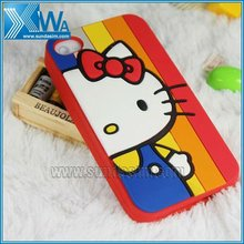 children design coloful cartoon case for iphone 4
