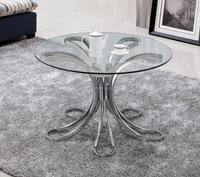 Fancy special designs janpese tea table stainless steel coffee table modern living room furniture end table small size