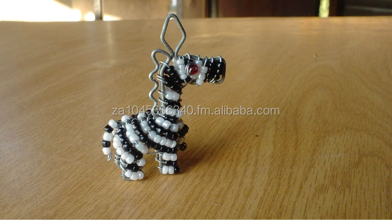 Zebra Wire beaded Key Chain