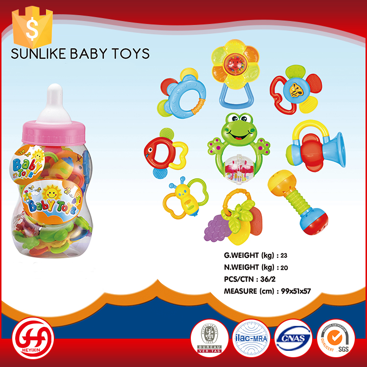 Feeding bottle gutta-percha bell ringing ABS soft rattles baby shaking toy