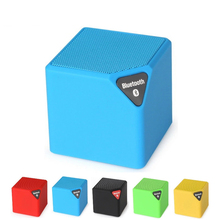 Mini portable outdoor colorful small magic square subwoofer bluetooth speaker
