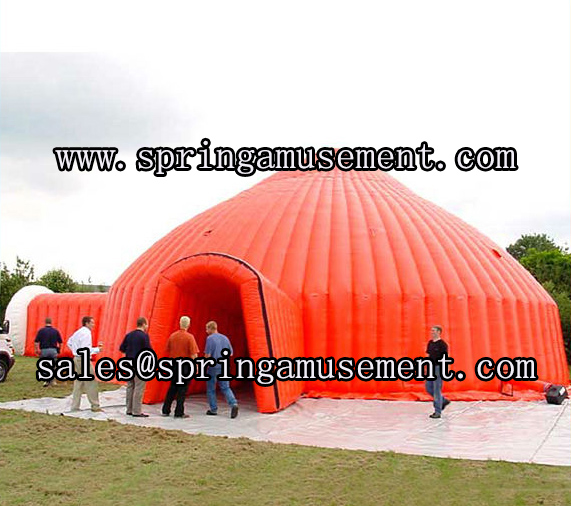 Hot Gaint PVC 0.55mm material inflatable double layer dome tent for sale SP-T3035