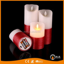 RISING China low price moving flame candles decoration vogue flameless wick led candle