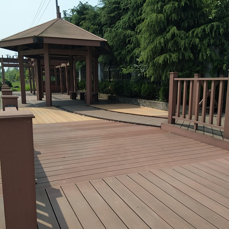 Outdoor Hollow WPC Wood Plastic Composite Deck Boards