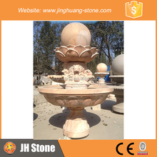 JH Lotus Shape Stone Water Fountain Rotating Ball Water Fountain for Sale