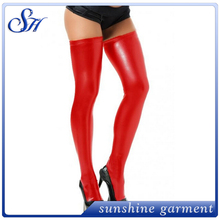 red faux leather hot sexy girl photo pantyhose leggings for girls