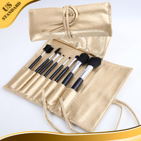 8PCS Golden Color Latest fashion individual face cosmetic brushes