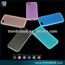 for apple iphone 5 matte back two tone color tpu case