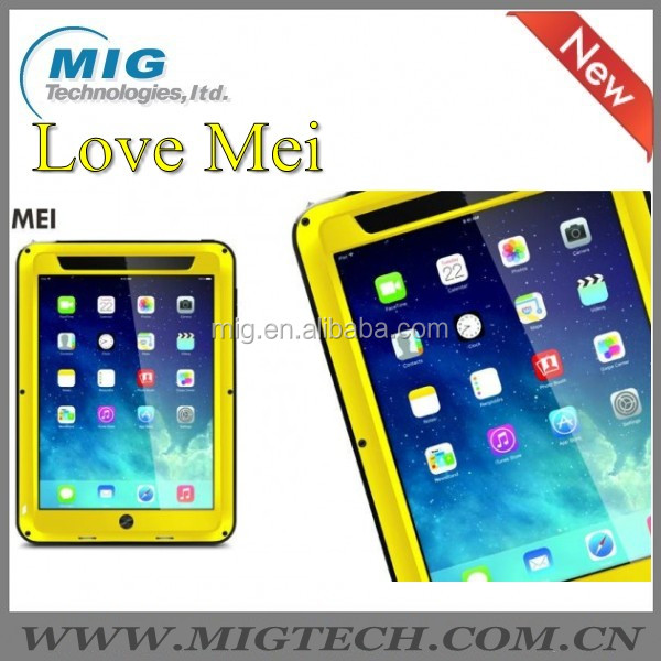 LOVE MEI Brand Cover Case for iPad Mini Shockproof Waterproof Rugged Gorilla Phone Case