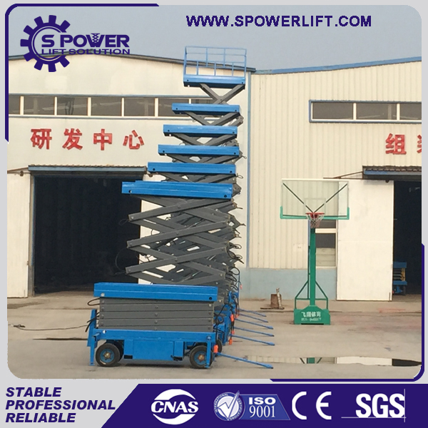 Hydraulic compact aerial work scissor man lift mobile lifting equipment