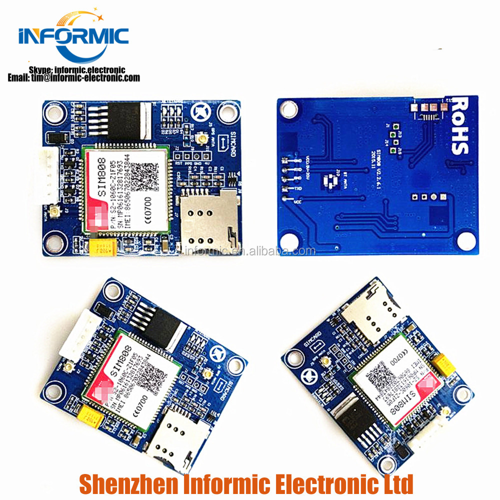 SIM808 development board replacement for 908 GSM GPRS GPS bluetooth SMS module data with sample program
