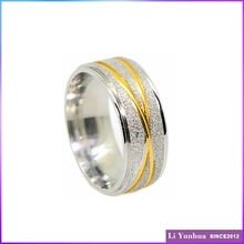 Beautiful gold plated diamond dust plain ring cheap wedding ring