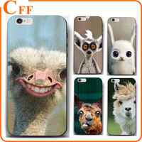 Hard PC Shell Slim Cover Protective Case for Apple Iphone 6 7 Emu Ostrich Birds Smile Funny Face Mobile Phone Case
