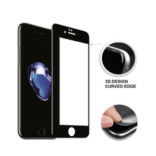 China Manufacturers screen protector For iphone 7 3D Curved corning gorilla colored tempered glass