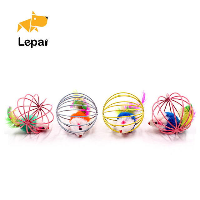Promotion Cheap Lovely Tinkle Bell Pet Toy Iron Cat Playing Ball