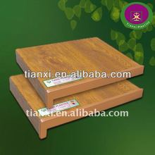 PVC window sill with wood design