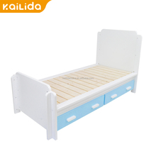 Hot Sale powder coated girls design wooden bunk bed lovely kid green and white children bedroom set For XC-MG Spare Parts