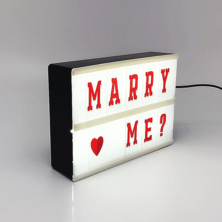 light box with alphabet cards/photography light box advertising/retro style cinematic light box a5