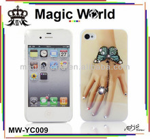 Hot &new Butterfly Bangle Ring diamond hard phone case for iphone 5
