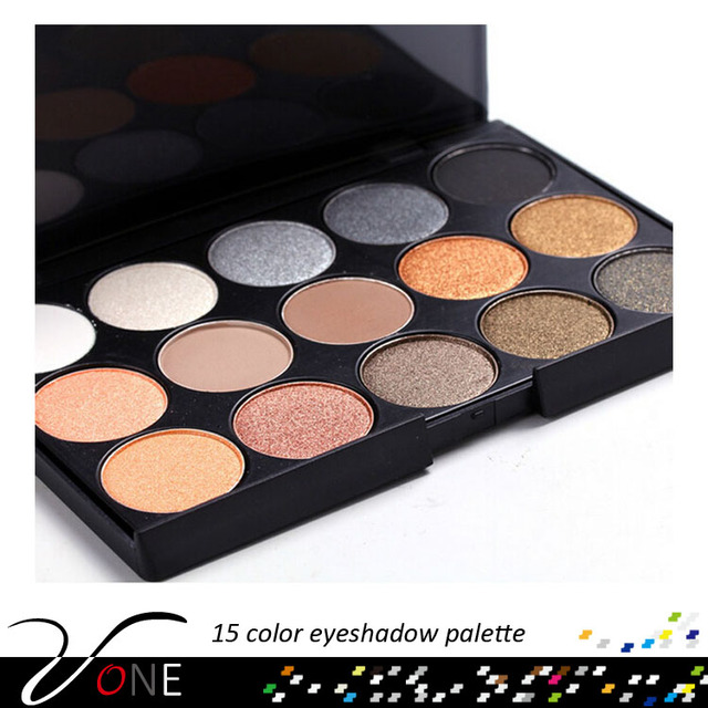 15#2 excellent high quality cosmetic makeup 15 color eyeshadow matte and shimmer with cheap price