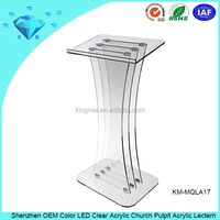 Clear Foldable Plexiglass Church Pulpit