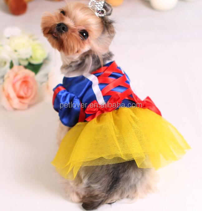 pet snow white puppy dress