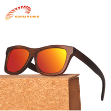 In stock polarized bamboo sunglasses with case packing wholesale (za03)