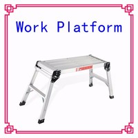 Aluminum Platform Folding Work Bench Stool Ladder