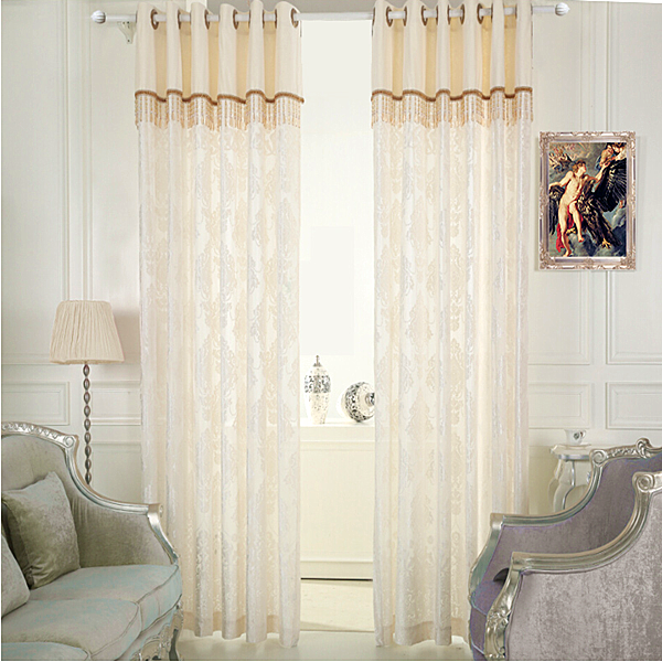 High Quality New Jacquard Voile fabric Curtain Design