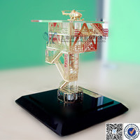 Oilfields Crystal Oil Rig Model For Sale