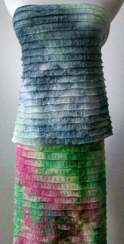 POLYESTER TIERED RUFFLE FABRIC