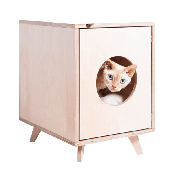 Factory Cheap Wood pet bed durable cat houses