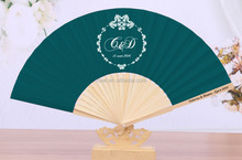 Custom #5743c single side poyester fan leaf + bamboo fan rib + 1 C printed rib GYS917-x