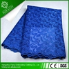 Hot sales swiss lace fabric/ royal blue lace fabric with rhinestons for party
