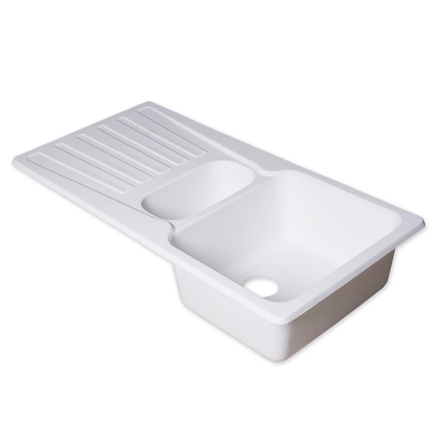 Square shape bathroom sink with washing plate