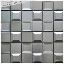Home Stainless Steel Wall Decoration Mosaic Tile 3D Metal Wall Art