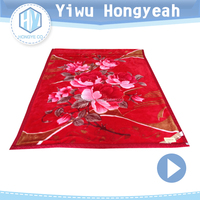 China manufacture suppliers 100% Polyester/Acrylic raschel blanket