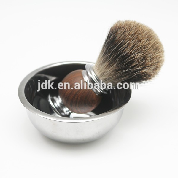 JDK professional shaving kit high quality badger hair shaving brush with bowl and stand